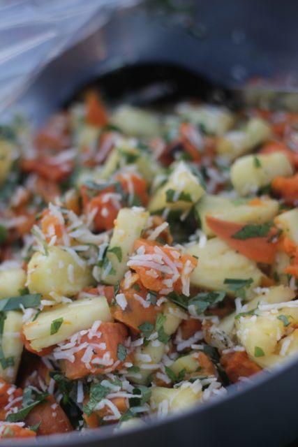 Pineapple and sweet potato salad