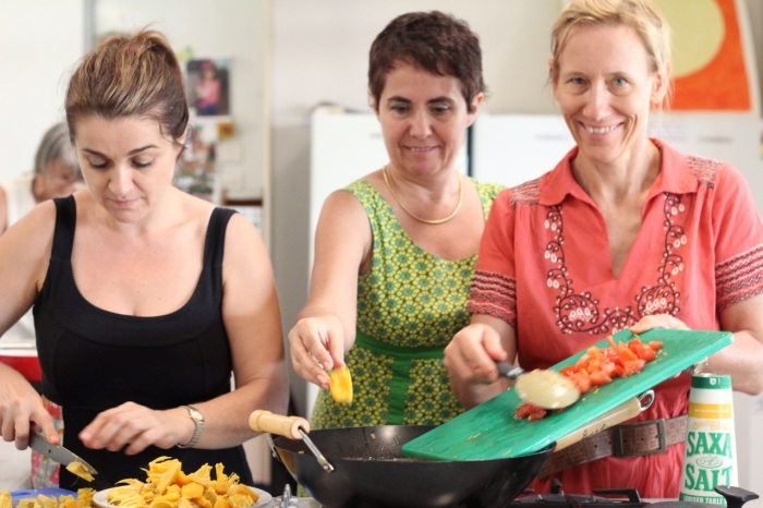 Jackfruit curry cooks