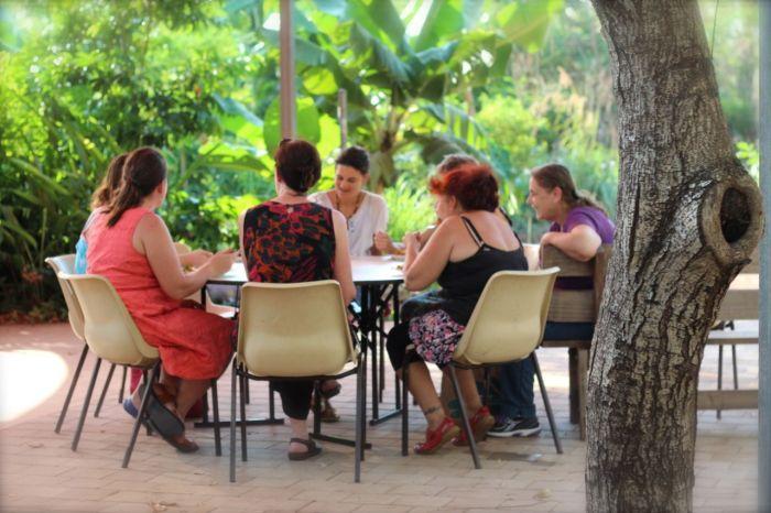 ladies eating