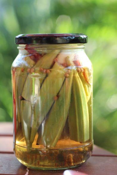 okra- pickled